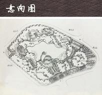 滨水公园景观平面图