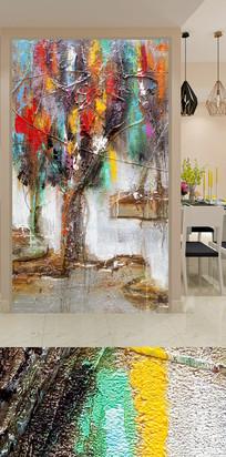 抽象艺术玄关装饰画