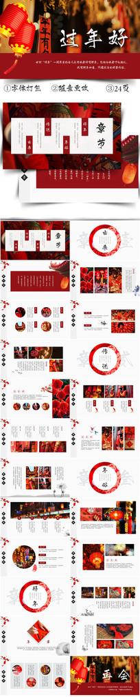 创意中国风过年好画册展示PPT