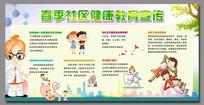 春季社区健康教育宣传展板