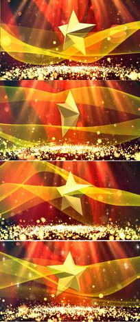 党政红歌红绸粒子五角星
