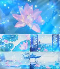 歌曲荷塘月色舞台背景视频