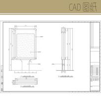 公共指示牌式样及安装详图 CAD