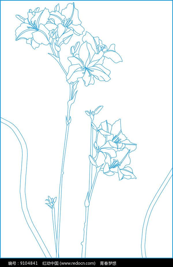 花纹线描雕刻图案图片
