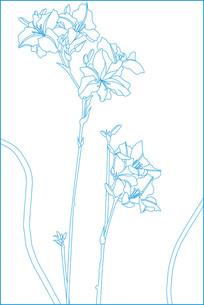 花纹线描雕刻图案