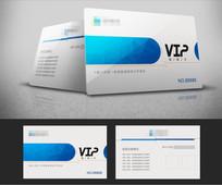蓝色科技VIP会员卡设计