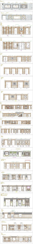 奢华欧式风格展厅整木背景墙