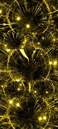 震撼大气金色粒子光线开场视频