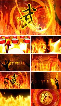 中国风传统武术演出背景视频