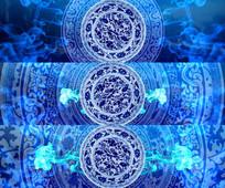 中国风水墨青花瓷视频素材