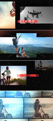 ae动感体育运动视频模板