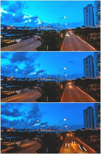 环岛路海边公路白天到晚上视频