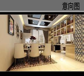花纹淡金餐厅