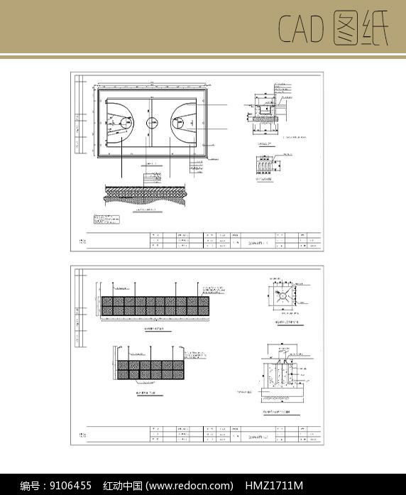 篮球场CAD图片