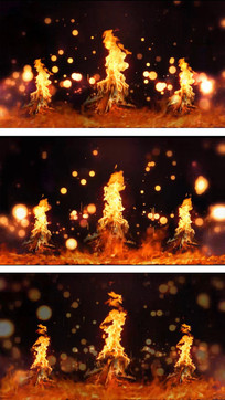 燃烧的火焰视频素材