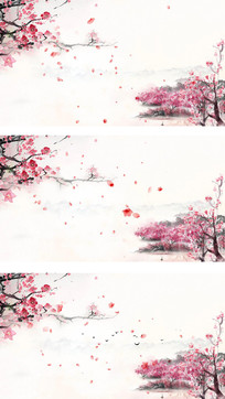 桃花背景视频素材