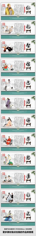 整套中华传统美德文化展板