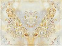 大理石欧式花纹背景墙