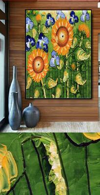 高清向日葵油画图