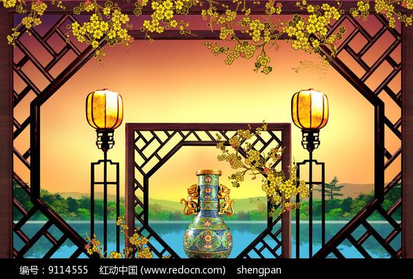 古文化意境装饰背景墙图片