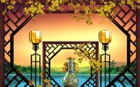 古文化意境装饰背景墙