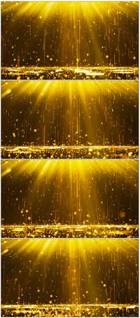 金色粒子落下颁奖背景视频