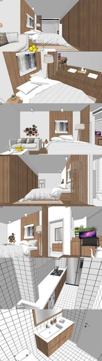 现代日式单身公寓