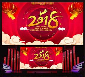 2018联欢晚会背景板设计