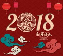 2018新年节日中国风贺卡素材