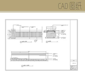 标准石凳大样图 CAD
