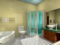 别墅卫生间布置效果图