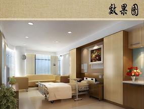 病房室内效果图
