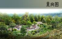 滨河绿地休息花园效果图