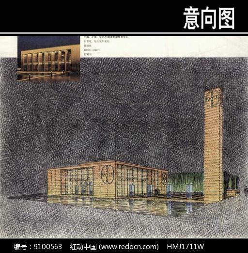 波利默技术中心手绘图图片