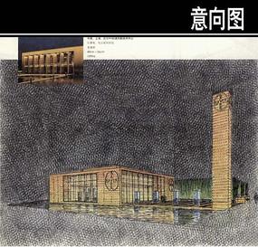 波利默技术中心手绘图