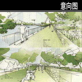 城中湖手绘图
