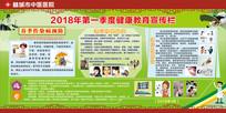 春季健康教育宣传栏中国风展板