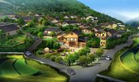 村中心景观效果图