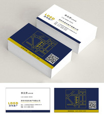 地产公司名片带二维码PSD