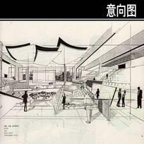 东方音乐厅内部手绘图