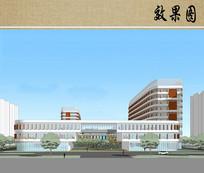 儿童医院建筑方案设计效果图 JPG