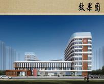 儿童医院建筑设计效果图 JPG