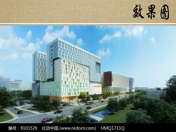 儿童医院综合楼效果图图片