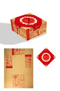 仿古怀旧老式糕点月饼礼盒包装