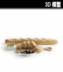 法式长棍3D模型