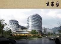 高端医疗区建筑效果图 JPG