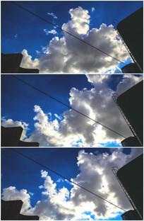 化工厂炼油厂天空蓝天白云视频