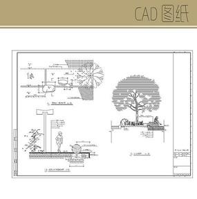 景观树池坐凳施工图 CAD