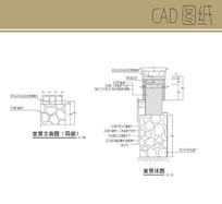 木石组合坐凳CAD CAD