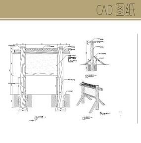 木桩指示牌CAD